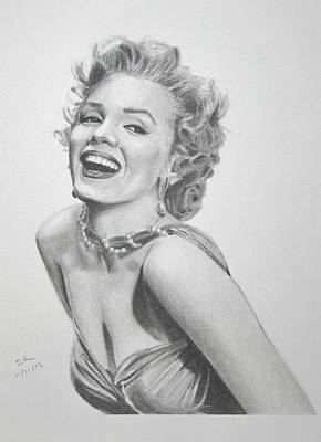 Gentlemen Prefer Blondes Drawing - Marilyn Monroe by Enrique Garcia