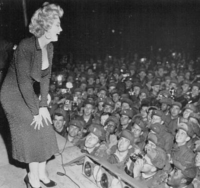Marilyn Photograph - Marilyn Monroe Entertains The Troops by Retro Images Archive