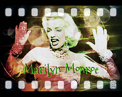 Digital Art - Marilyn Monroe Film by Absinthe Art By Michelle LeAnn Scott