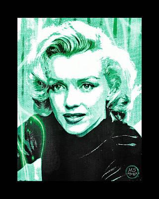 Marilyn Monroe - Green Art Print by Absinthe Art By Michelle LeAnn Scott