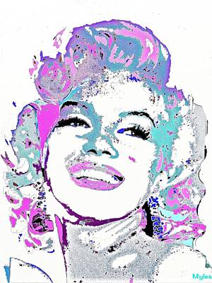 Painting - Marilyn Monroe I Want To Be Loved By You by Saundra Myles