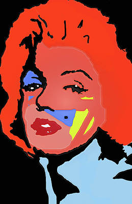 Marilyn Monroe In Color Art Print