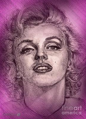 Digital Art - Marilyn Monroe In Pink by J McCombie