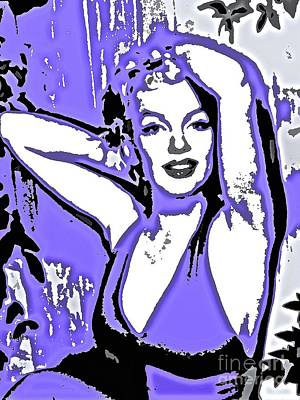 Painting - Marilyn Monroe In Purple by Saundra Myles