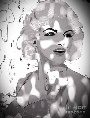 Painting - Marilyn Monroe In The Shadows by Saundra Myles