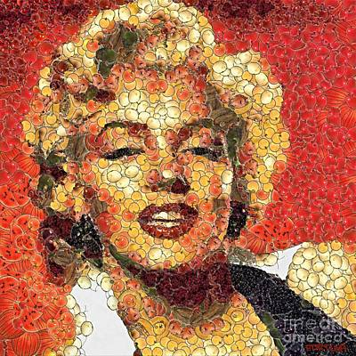 Celebrities Painting - Marilyn Monroe In The Way Of Arcimboldo by Dragica  Micki Fortuna
