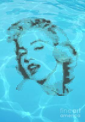 Marilyn Monroe In Transparent Water Original by Rodolfo Vicente