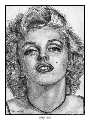 Sex Symbol Drawing - Marilyn Monroe by J McCombie