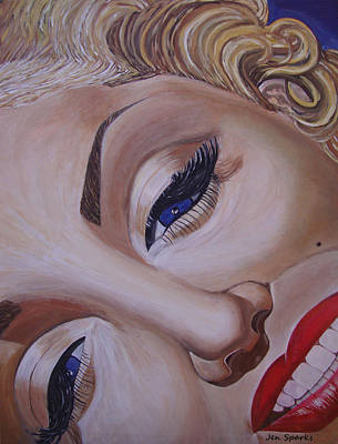 Painting - Marilyn Monroe by Jen Sparks