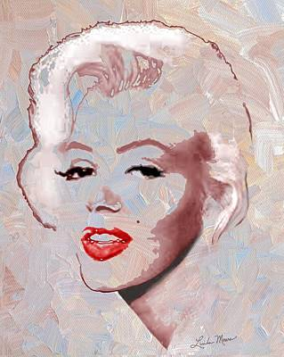 Music Digital Art - Marilyn Monroe by Linda Mears