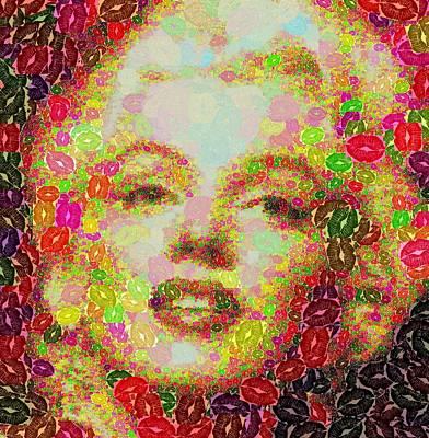 Painting - Marilyn Monroe - Lips by Samuel Majcen