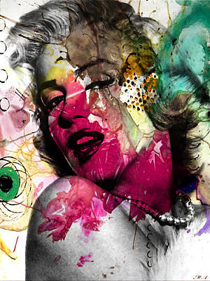 Human Beings Digital Art - Marilyn Monroe by Mark Ashkenazi
