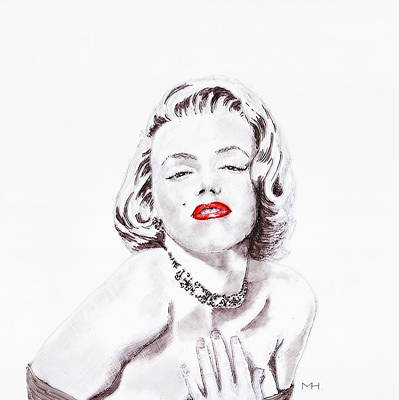 Drawing - Marilyn Monroe by Martin Howard