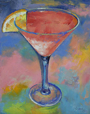 Marilyn Monroe Martini Art Print by Michael Creese