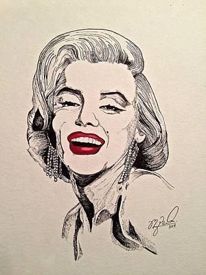 1950s Movies Mixed Media - Marilyn Monroe by Michael  Parrella