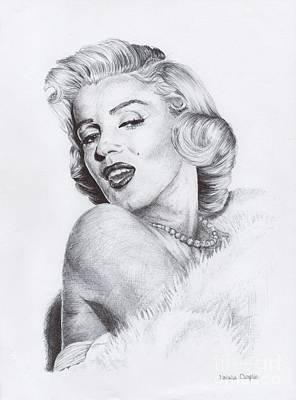Icon Drawing - Marilyn Monroe by Natalia Chaplin