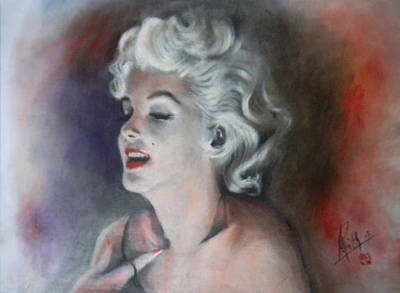 Painting - Marilyn Monroe No.5 by Alan Kirkland-Roath