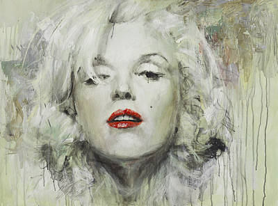 Marylin Painting - Marilyn Monroe by Oleg Trofimoff