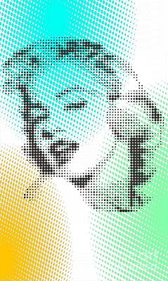 Marilyn Monroe On Green Dots Original by Rodolfo Vicente
