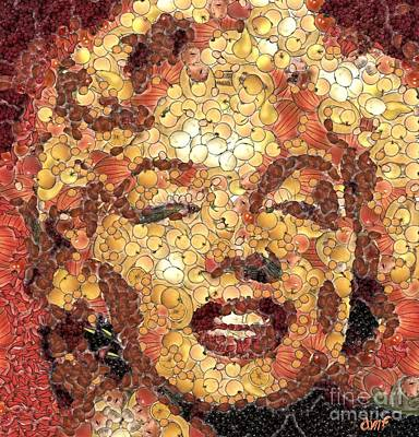 Celebrities Painting - Marilyn Monroe On The Way Of Arcimboldo by Dragica  Micki Fortuna