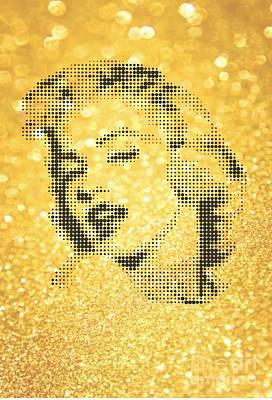 Marilyn Monroe On Yellow Powder Original by Rodolfo Vicente