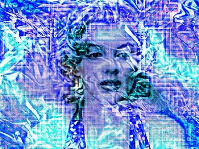 Painting - Marilyn Monroe Out Of The Blue by Saundra Myles