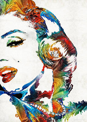 Cinematic Painting - Marilyn Monroe Painting - Bombshell - By Sharon Cummings by Sharon Cummings