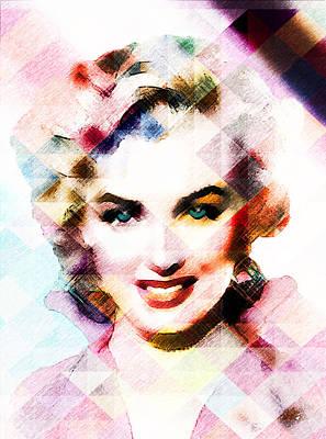 Digital Art - Marilyn Monroe Pastel by Ericamaxine Price