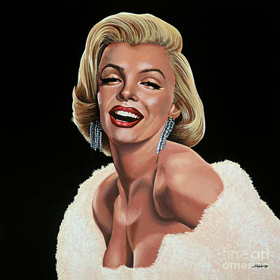 Blonde Painting - Marilyn Monroe by Paul Meijering