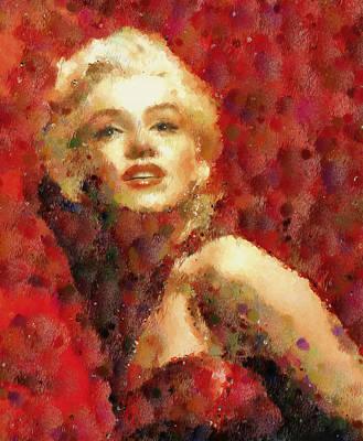 Painting - Marilyn Monroe Pop Art Portrait by Georgiana Romanovna