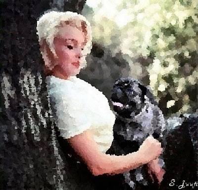 Marilyn Monroe Pug Love Art Print