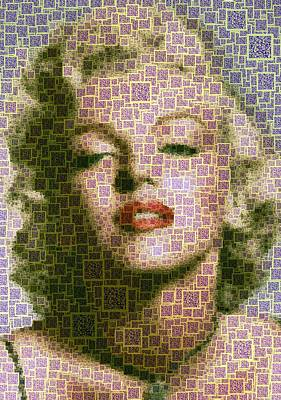 Digital Art - Marilyn Monroe - Qr Code by Samuel Majcen