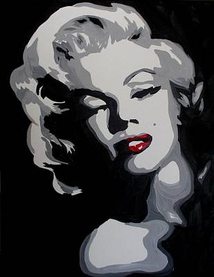 Painting - Marilyn Monroe Red Lips by Marisela Mungia