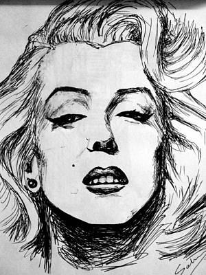 Marilyn Monroe Art Print by Salman Ravish