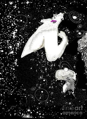 Painting - Marilyn Monroe Seduced By The Stars by Saundra Myles