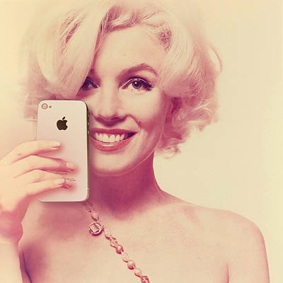 Photograph - Marilyn Monroe Selfie 2 by Tony Rubino