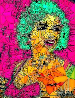 Painting - Marilyn Monroe Some Like It Hot Pink by Saundra Myles