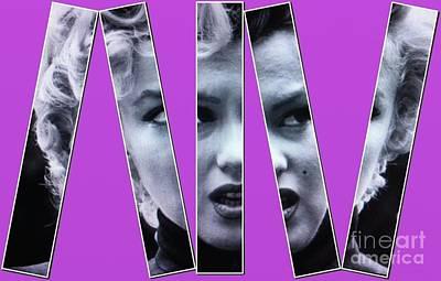 Photograph - Marilyn Monroe Splintered by Saundra Myles