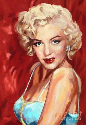 Painting - Marilyn Monroe by Tim Gilliland