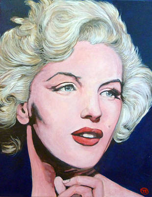 Tr Painting - Marilyn Monroe by Tom Roderick