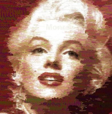 Painting - Marilyn Monroe - Typography by Samuel Majcen