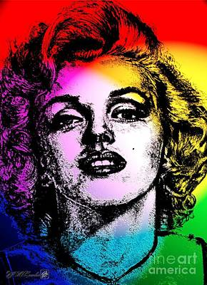 Digital Art - Marilyn Monroe Under Spotlights by J McCombie