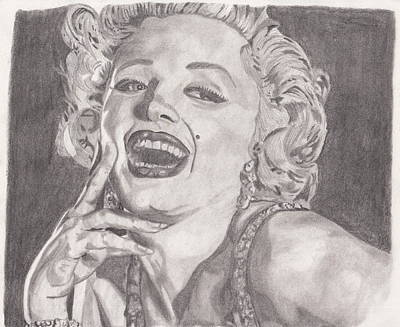 Portraits Drawing - Marilyn Monroe by Vincent Young