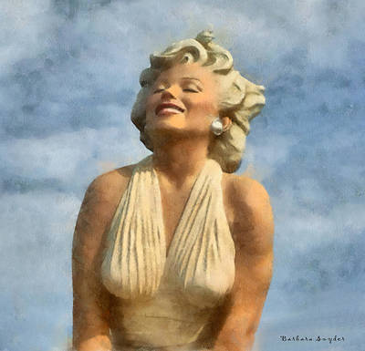 Digital Art - Marilyn Monroe Watercolor by Barbara Snyder