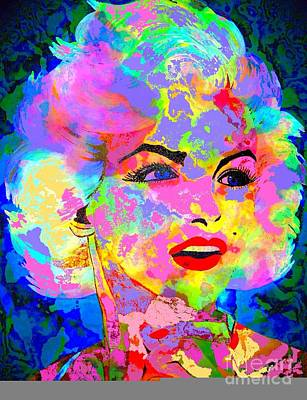 Painting - Marilyn Monroe Watercolor by Saundra Myles