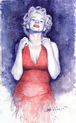 Actors Painting - Marilyn Monroe by Yuriy  Shevchuk