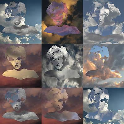Marilyn Monrow Nine Times In The Sky Art Print