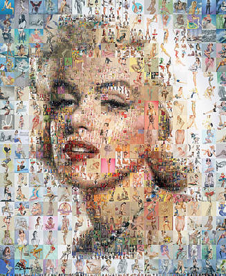Mosaico Digital Art - Marilyn Mosaic by Luis Blanco