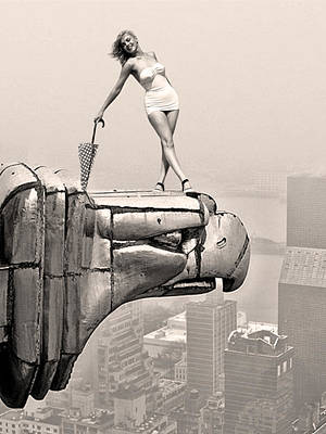 Photograph - Marilyn On Top Of The World by Nop Briex