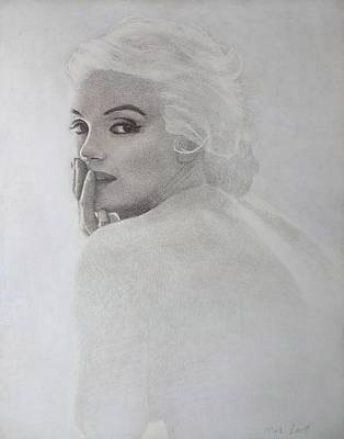 Marilyn Profile Art Print